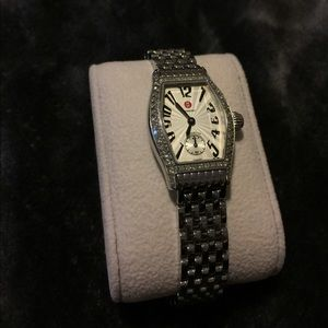 Michele Coquette Diamond and Stainless Watch